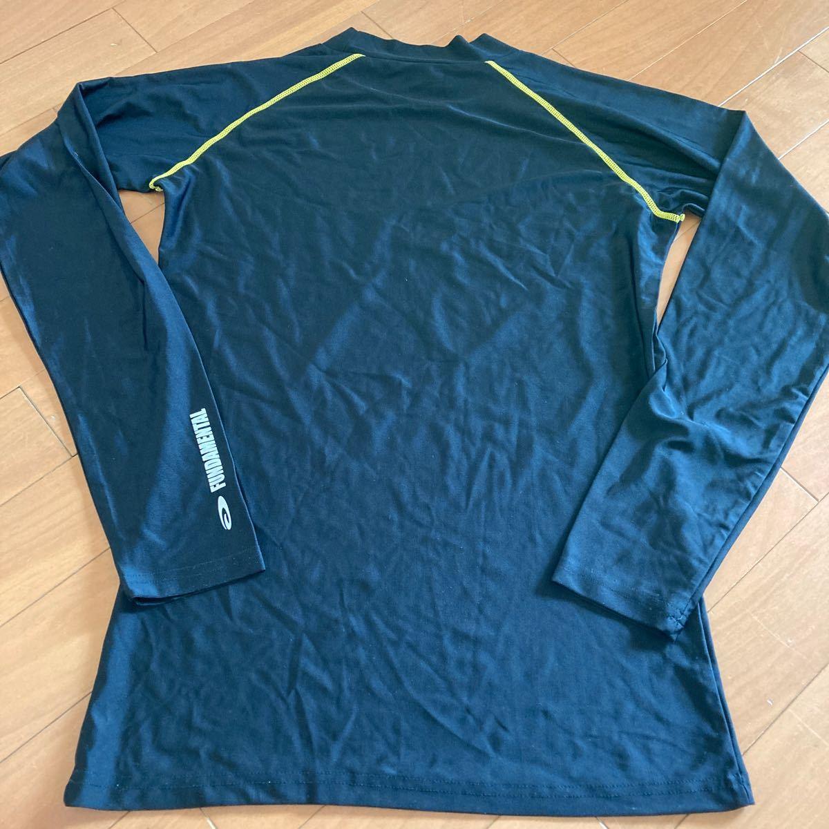 アンダーシャツ スポーツ インナーシャツ メンズ Mサイズ 黒 長袖Tシャツ