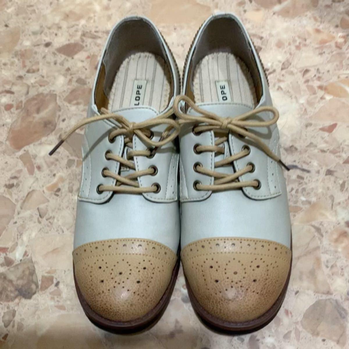 オックスフォード・シューズ シューズ 靴 レディース 紐靴 ほぼ未使用 美品 綺麗 量産 夢 Ateliers Penelope