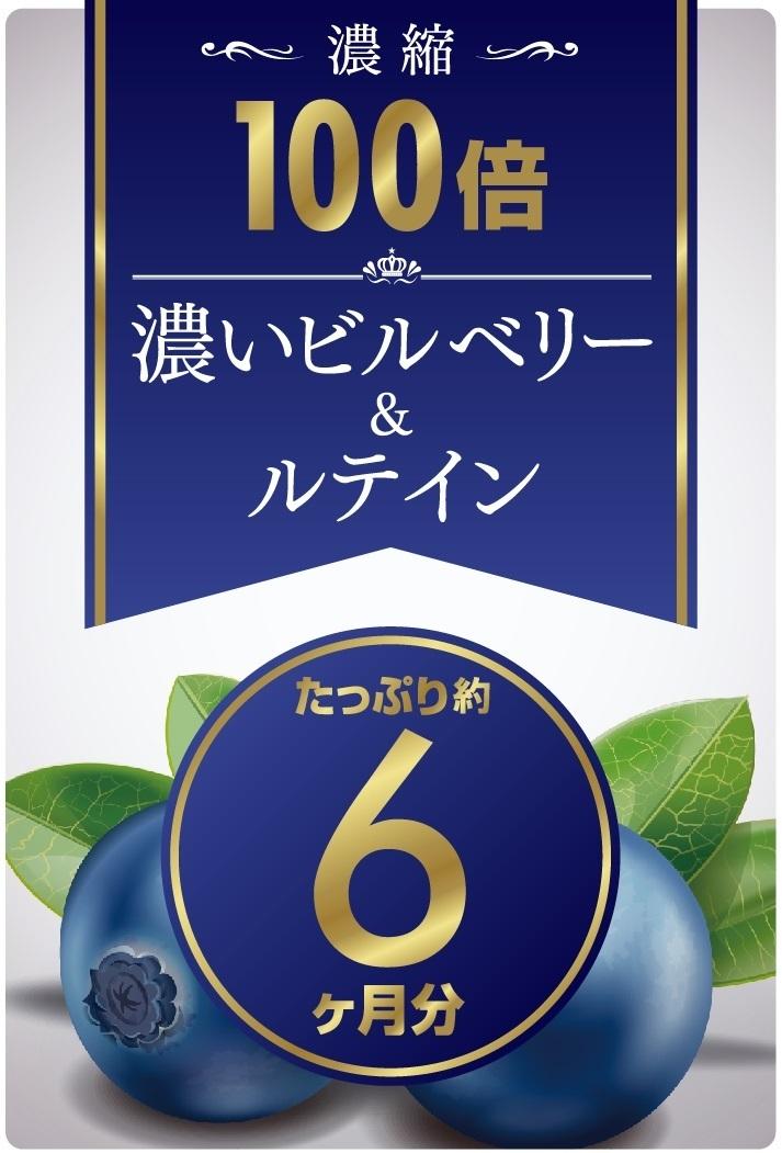 1円 ~ 濃縮100倍 濃いビルベリー&ルテイン 約6ヵ月分 累計販売100,000個突破 ビルベリー サプリ サプリメント ブルーベリー_画像6