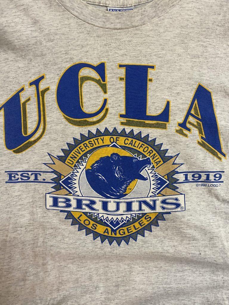 期間限定SALE!! 1990s UCLA カレッジ ビンテージTシャツ M 杢グレー_画像5