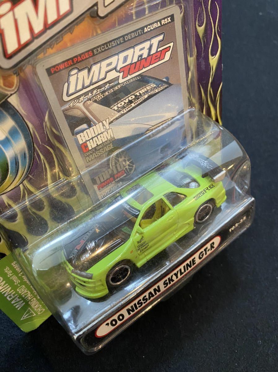 2002 Muscle Machines インポート チューナー 日産 スカイライン GT-R ミニカー チューニングカー Nissan Skyline Import Tuner 1/64_画像2