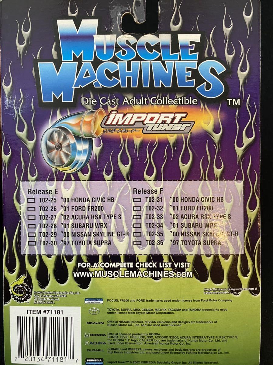 2002 Muscle Machines インポート チューナー 日産 スカイライン GT-R ミニカー チューニングカー Nissan Skyline Import Tuner 1/64_画像3