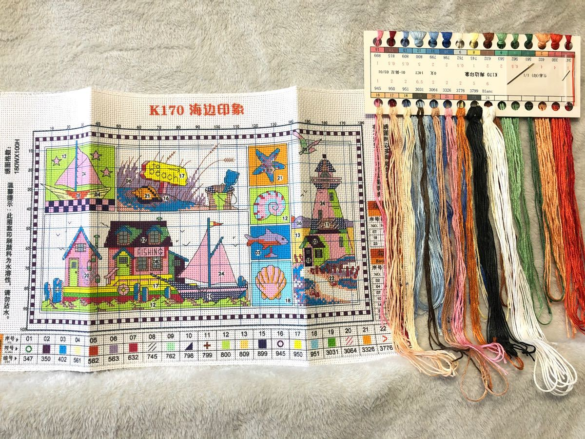 クロスステッチ刺繍キット(K170)14CT