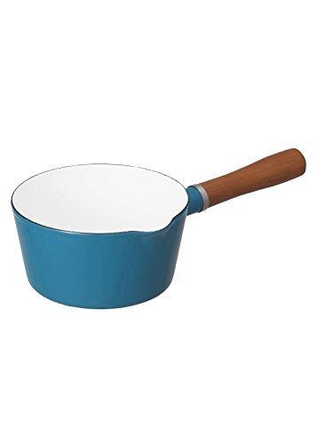 ターコイズ 16cm シービージャパン 片手鍋 ターコイズブルー IH対応 16cm ノルディカ ミルクパン ホーロー ALA_画像1