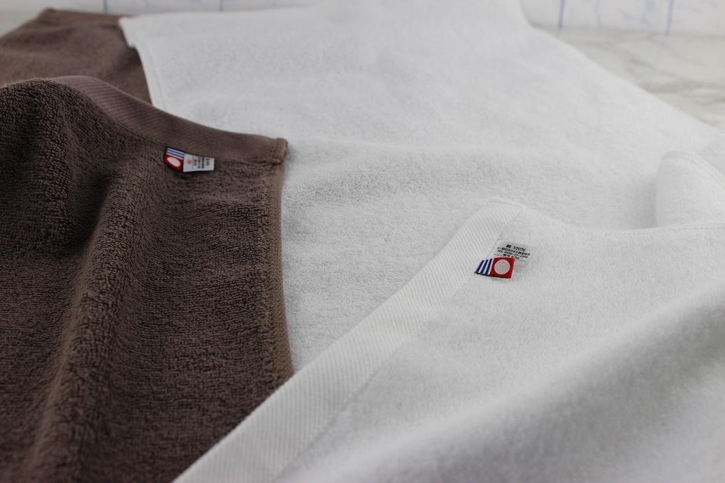 ★【送料無料】 ★新品  今治タオル フェイスタオル 5枚 ブラウン・ホワイト ふかふか  吸水_画像3