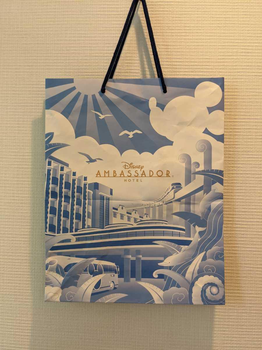 1円スタート! ディズニーアンバサダーホテル ショップ袋 紙袋 袋 Disney コレクション グッズ コレクター akichan7777jp_画像1