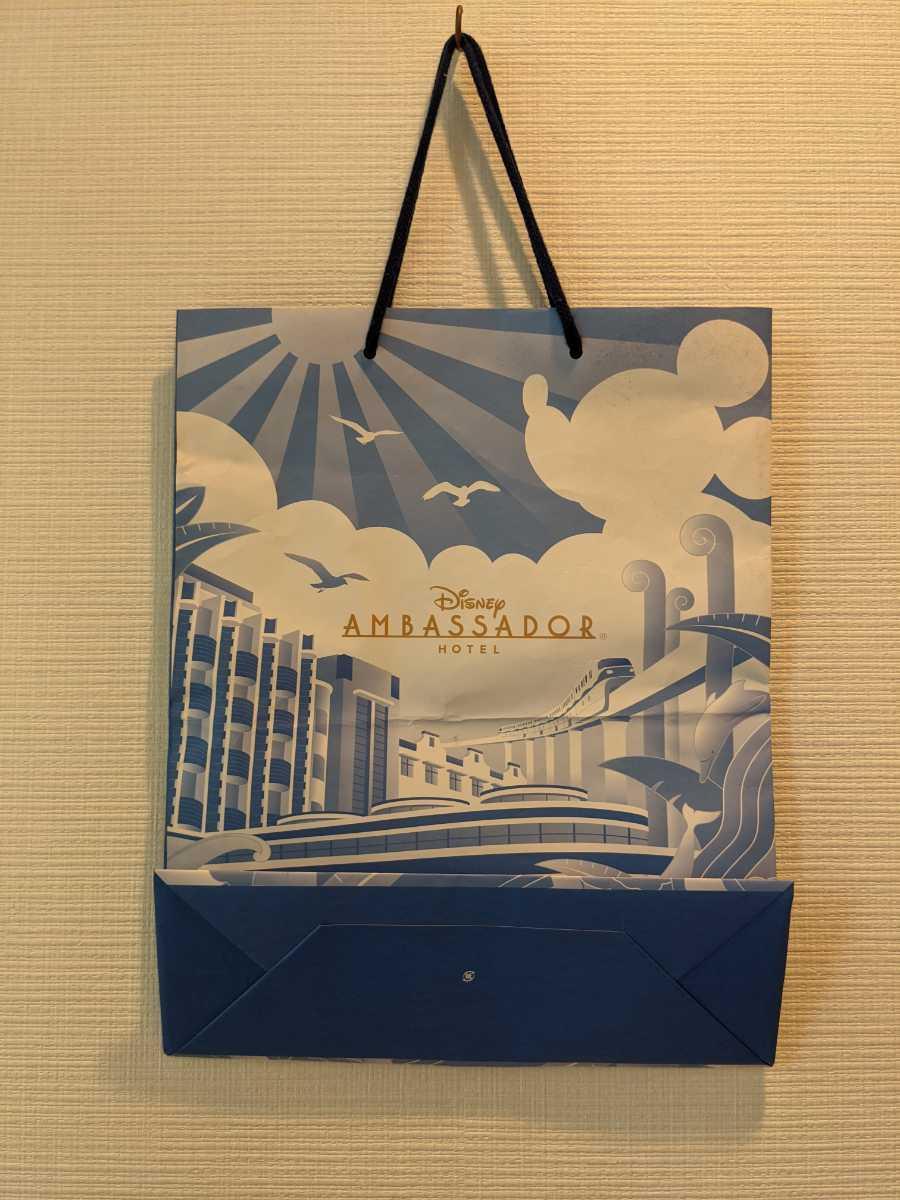 1円スタート! ディズニーアンバサダーホテル ショップ袋 紙袋 袋 Disney コレクション グッズ コレクター akichan7777jp_画像2