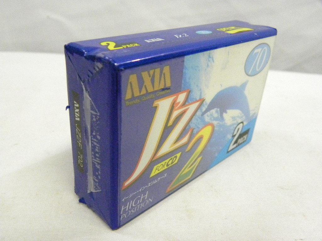 ★AXIA アクシア J'z2 FOR CD 70 未開封品2本パック★ハイポジション カセットテープ 2本★ハイポジ★イージーインスリムケース★_画像5