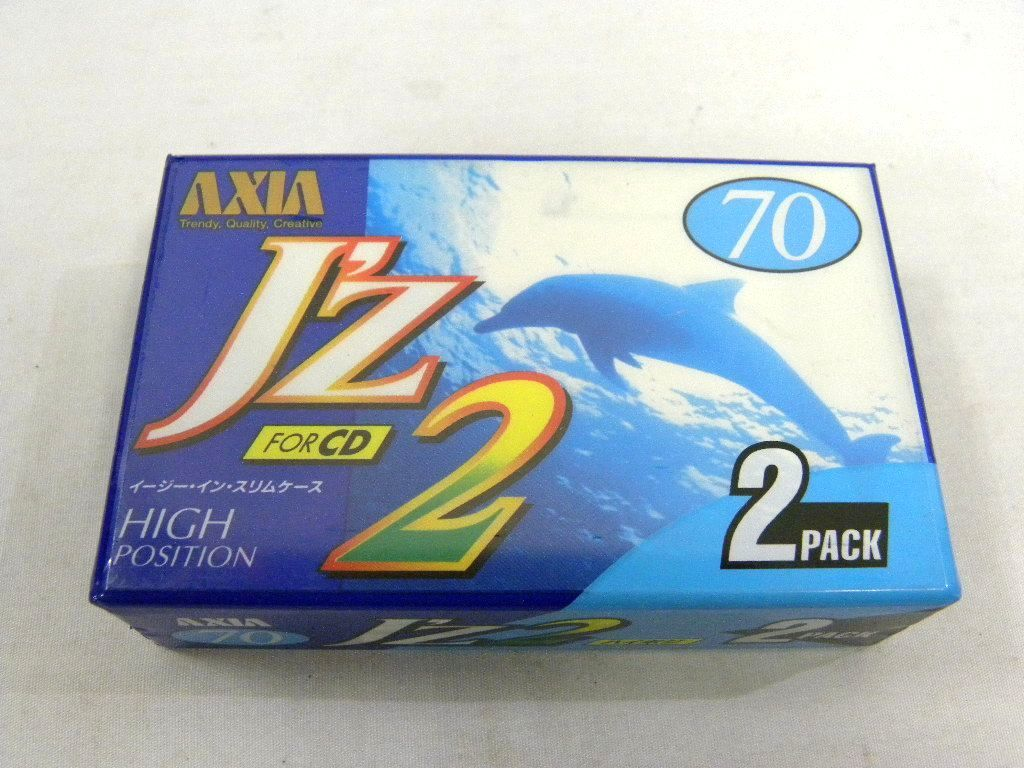 ★AXIA アクシア J'z2 FOR CD 70 未開封品2本パック★ハイポジション カセットテープ 2本★ハイポジ★イージーインスリムケース★_画像1