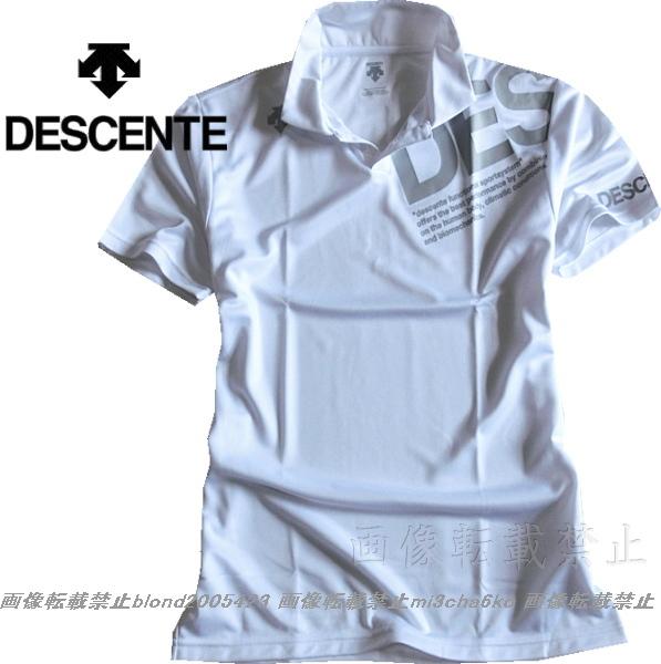 ■新品【DESCENTE】デサント左胸BIGロゴ吸汗速乾機能ポロシャツ■WH/L_画像2