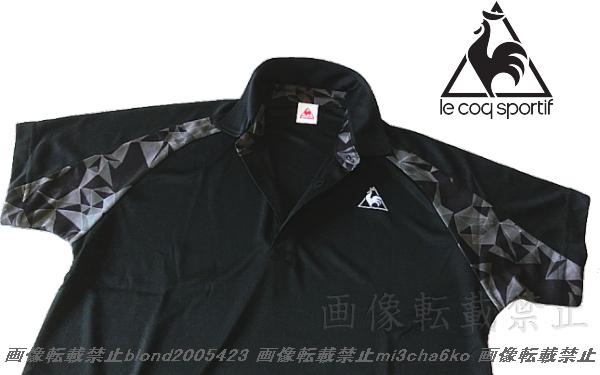 ■新品【le coq】ルコック左胸刺繍ロゴSUNSCREEN(-3℃クール)クーリングDRY高機能切替ポロ■BK/L_画像4