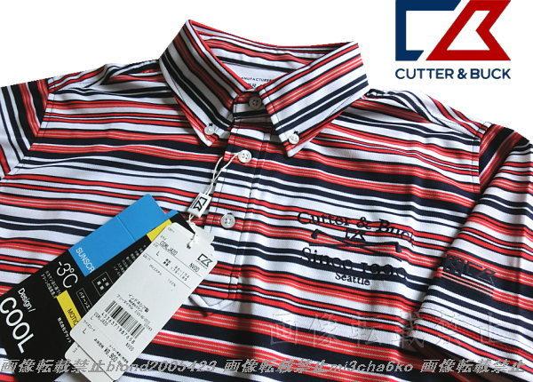 ■新品【DESCENTE CUTTER&BUCK-GOLF】カッター&バックゴルフ吸水速乾COOLクーリングポロ■NV/LL(XL)_画像3