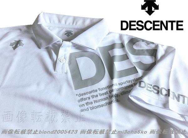 ■新品【DESCENTE】デサント左胸BIGロゴ吸汗速乾機能ポロシャツ■WH/L_画像3