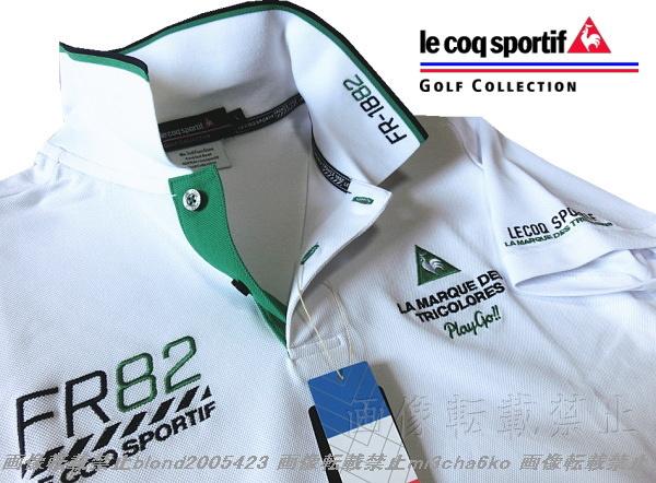 ■新品【le coq GOLF】ルコックゴルフ4点刺繍ロゴ吸汗速乾ストレッチポロシャツ■WH/LL(XL)_画像3