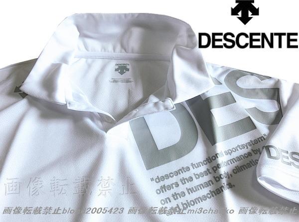 ■新品【DESCENTE】デサント左胸BIGロゴ吸汗速乾機能ポロシャツ■WH/L_画像1