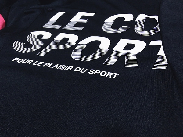 ■新品【le coq】ルコック左胸BIGロゴQUICK-DRY吸汗速乾さらさらポロシャツ■NV/O(XL)_画像4