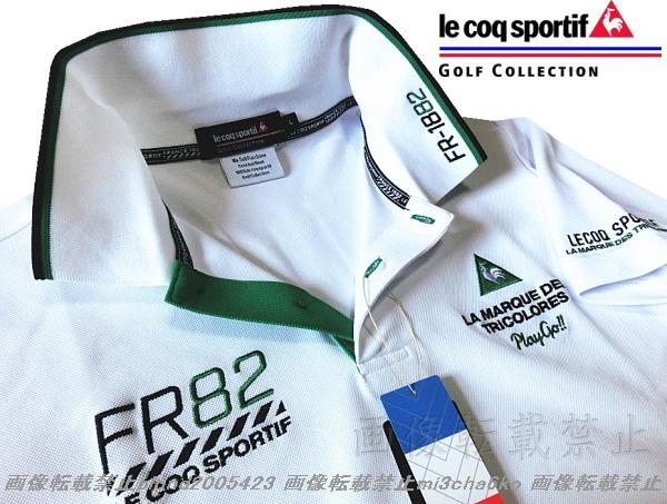 ■新品【le coq GOLF】ルコックゴルフ4点刺繍ロゴ吸汗速乾ストレッチポロシャツ■WH/LL(XL)_画像4