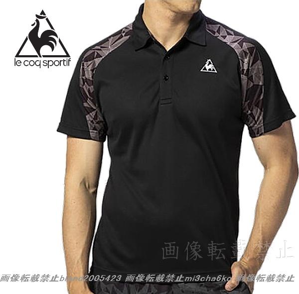 ■新品【le coq】ルコック左胸刺繍ロゴSUNSCREEN(-3℃クール)クーリングDRY高機能切替ポロ■BK/L_画像5