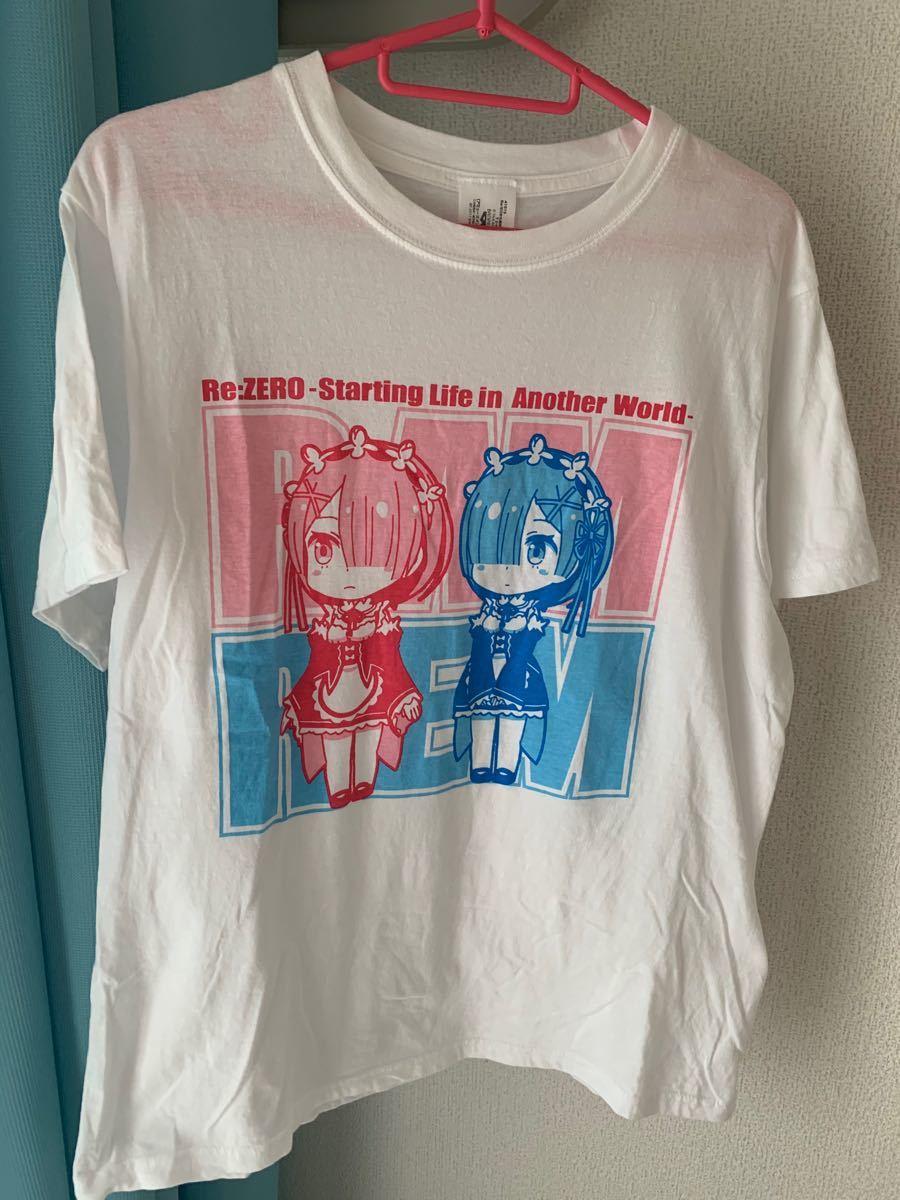 【アミューズメント専用景品】 Re:ゼロから始める異世界生活 Tシャツ レムラム 開封済み 未使用