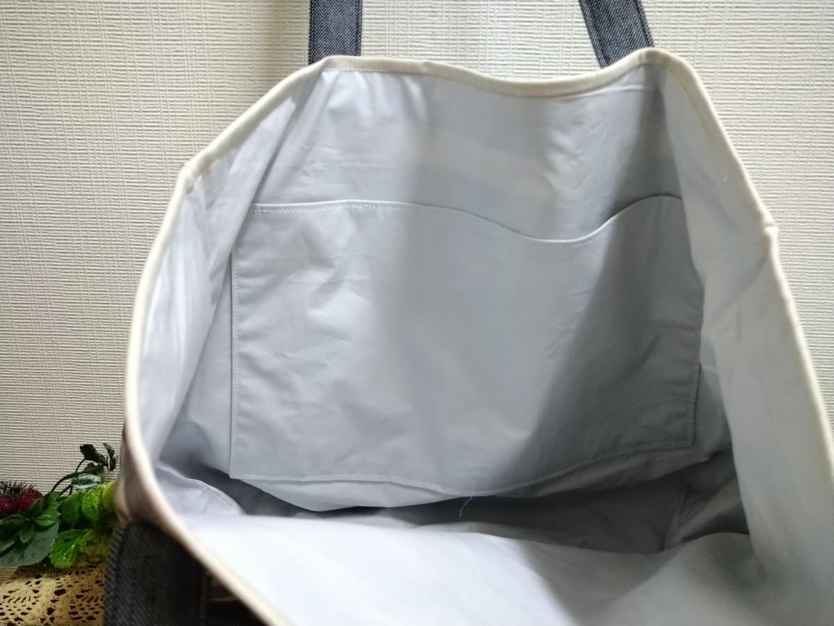 BIGサイズ  トートバッグ ミニポーチのおまけ付き ハンドメイド