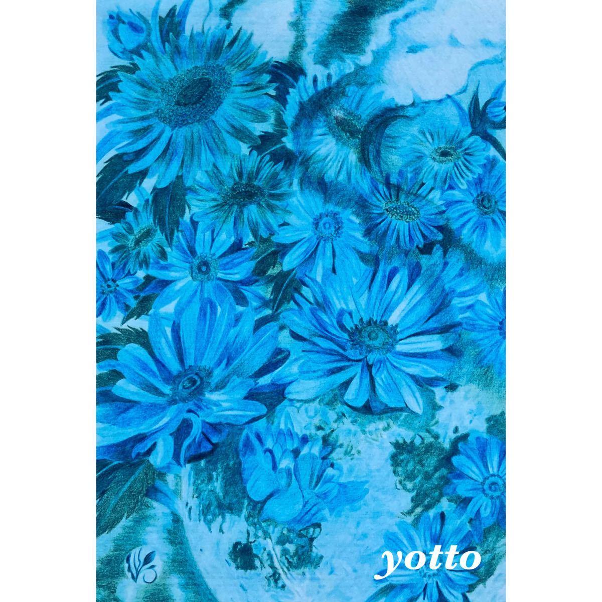 「 月華」A4・額付き◇◆印刷物◇◆花◇◆yotto_画像1