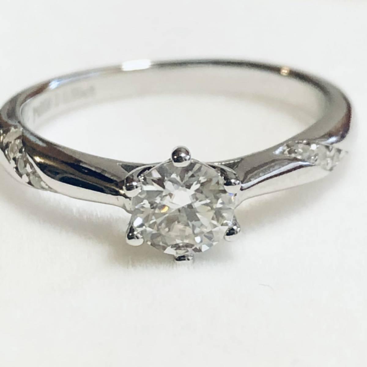 pt950 D0.50ct プラチナ ダイヤモンドリング 約12号 1円スタート アクセサリー ジュエリー 指輪