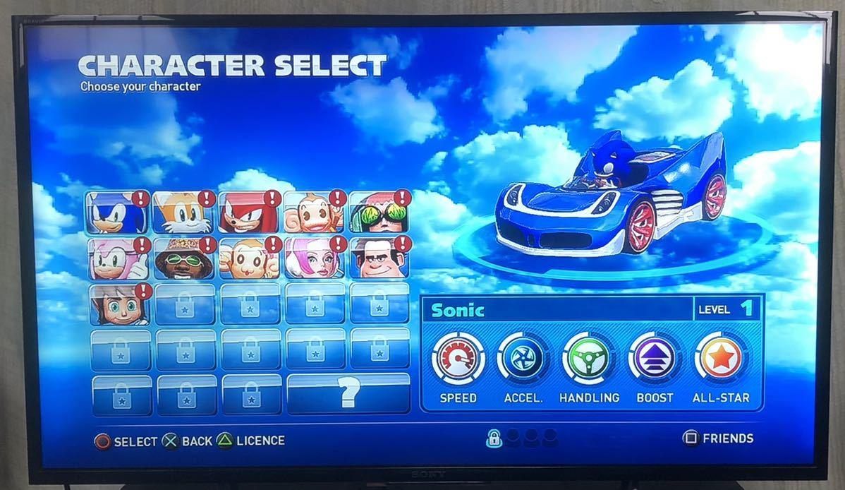 【動作確認画像有り 】 海外版 PS3 SONIC & ALL STAR RACING TRANSFORMED ソニック&オールスターレーシング プレステ3 カセット