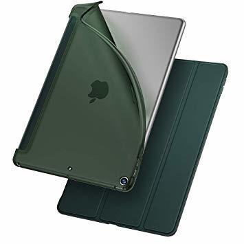 グリーン ESR iPad Mini 5 2019 ケース 薄型 PU レザー スマート カバー ソフト TPU 背面 ケース _画像1