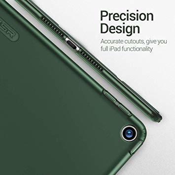 グリーン ESR iPad Mini 5 2019 ケース 薄型 PU レザー スマート カバー ソフト TPU 背面 ケース _画像6