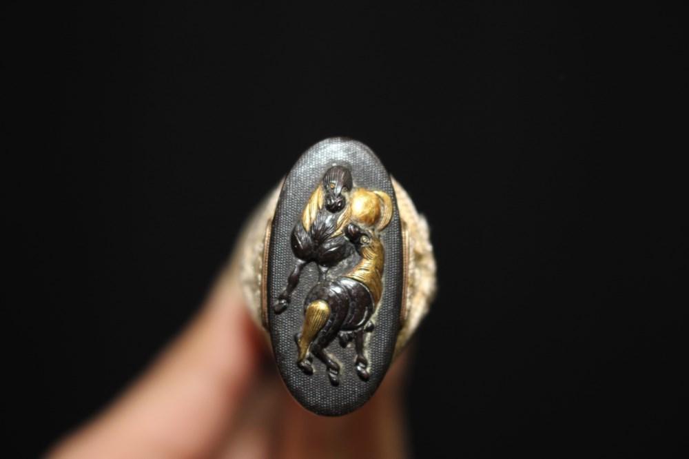 (AT-5)鮫革張り鞘 大小拵セット◆江戸時代_画像9