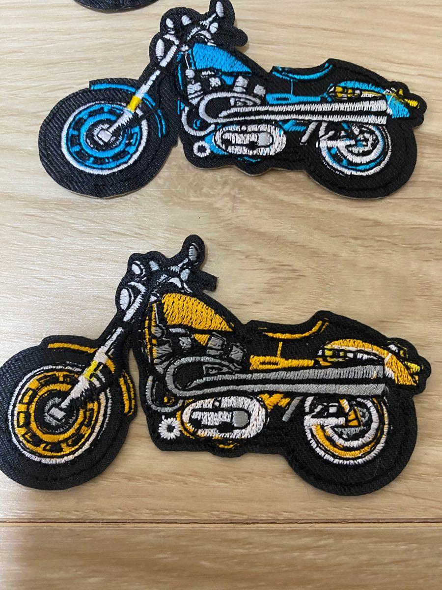アイロンワッペン 刺繍ワッペン バイク