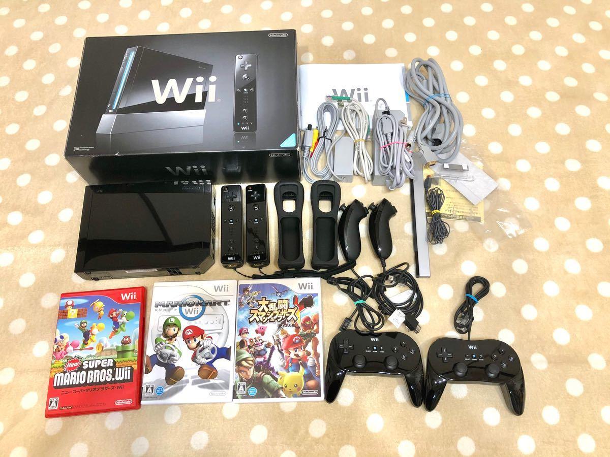 動作確認済 Wii本体 ソフトセット マリオカート スマッシュブラザーズ スーパーマリオブラザーズ