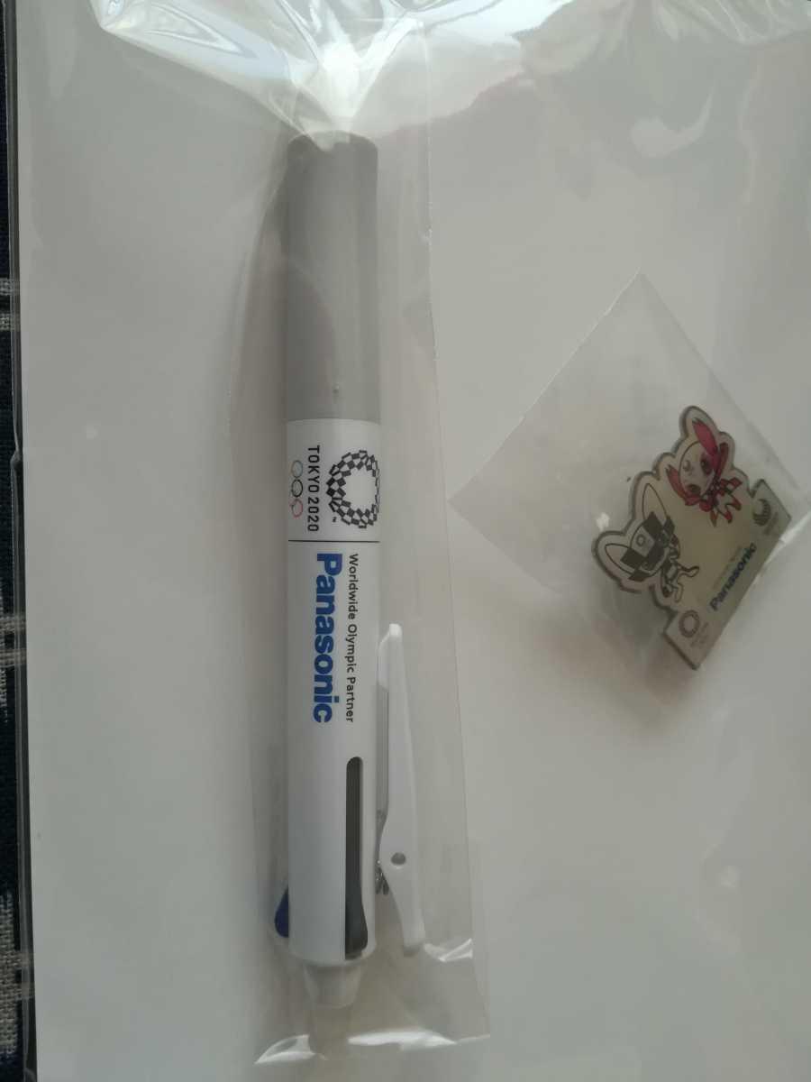 送料無料 匿名配送◆パナソニック 東京オリンピック2020 ミライトワ ソメイティ ピンバッジ ボールペン セット_画像3