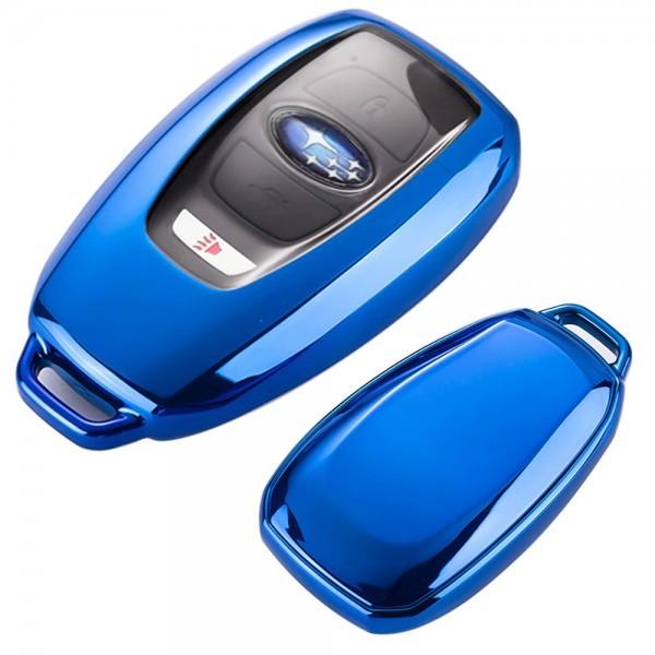 SUBARU スバル スマート キーケース フォレスター レガシィ B4 レヴォーグ インプレッサ アウトバック BRZ WRX STI S4 XV G4 K15 ブルー_画像1