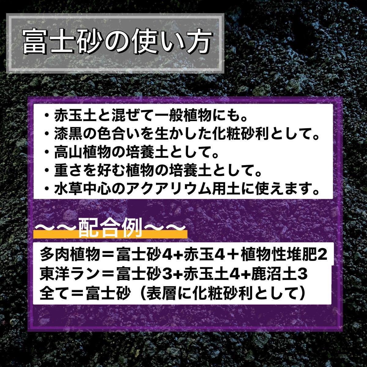 〜特選富士砂〜 1リットル多肉植物 サボテン 観葉植物 土 魂根植物 アクアリウム 火山灰
