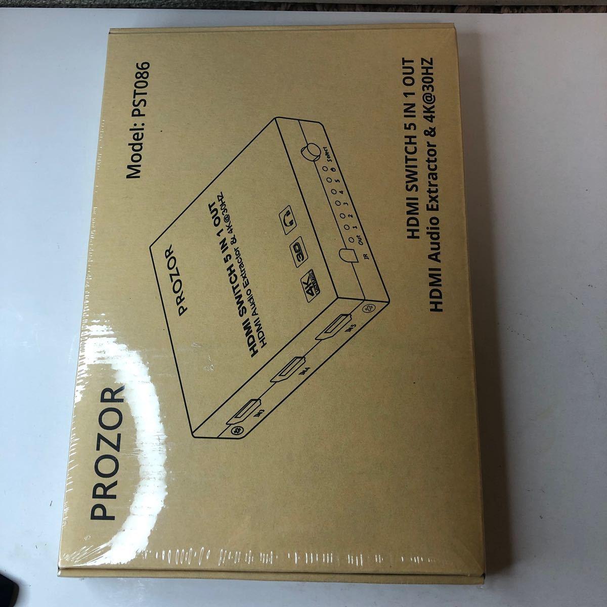 HDMI切替器 音声分離機能 4K 5入力1出力 HDMI1.4 2160p@30Hz