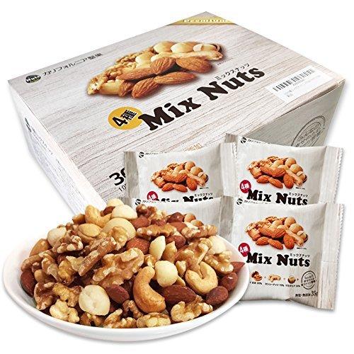 小分け4種 ミックスナッツ 1.05kg (35gx30袋) 個包装 USエクストラNo.1アーモンド使用 箱入り 産地直輸入 _画像10