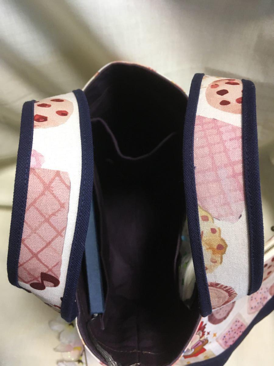 ランチバッグ(トートバッグ)・ポーチのセット(ペコクッキー)・マイボトルを持って ハンドメイド ミニトートバッグ