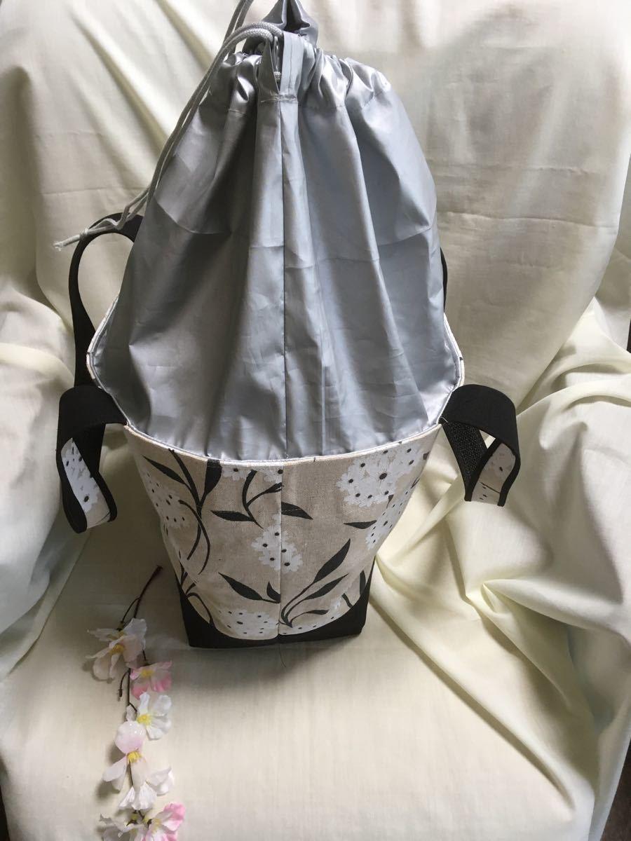 トートバッグ(とても大きい・滑り止め付き・肩がけトート)・ショッピングバッグ・マザーズバッグ・エコバッグ(てまり)・ハンドメイド