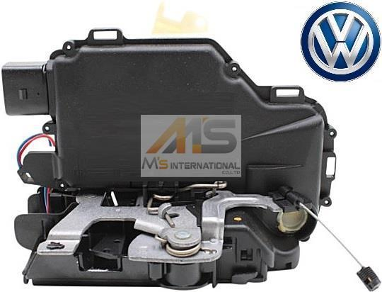 【M's】VW ルポ(6X) ゴルフ4/ボーラ(1J) ニュービートル(9C)純正品 フロント ドアロック アクチュエーター(左側)/6X2-837-013C 6X2837013C_画像1