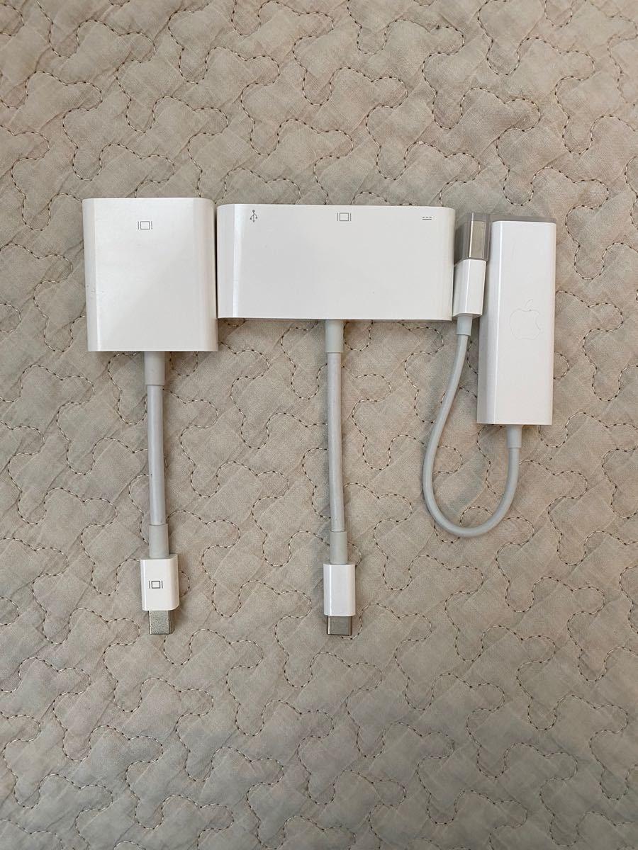 Apple Lightning 純正品 変換ケーブル セット LAN モニター用 DIGITAL iPad アップル ハブ