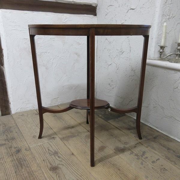 イギリス アンティーク 家具 オケージョナルテーブル サイドテーブル 飾り棚 花台 木製 英国 SMALLTABLE 6801b_画像7