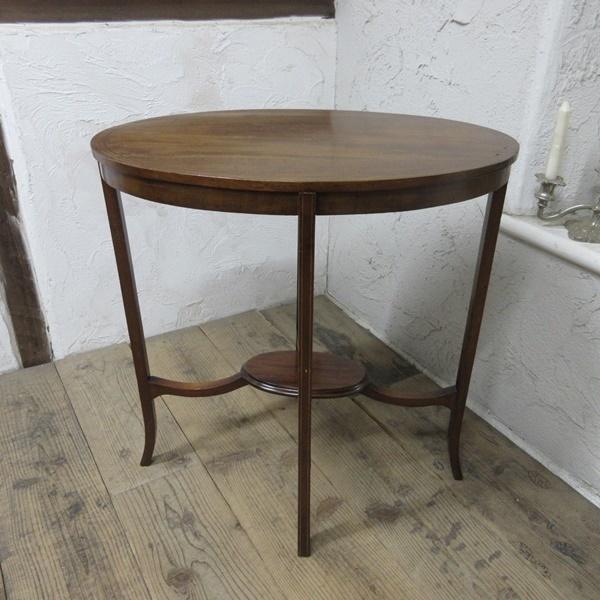 イギリス アンティーク 家具 オケージョナルテーブル サイドテーブル 飾り棚 花台 木製 英国 SMALLTABLE 6801b_画像3