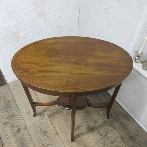 イギリス アンティーク 家具 オケージョナルテーブル サイドテーブル 飾り棚 花台 木製 英国 SMALLTABLE 6801b_画像4