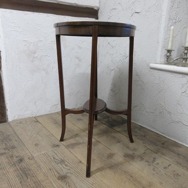 イギリス アンティーク 家具 オケージョナルテーブル サイドテーブル 飾り棚 花台 木製 英国 SMALLTABLE 6801b_画像8