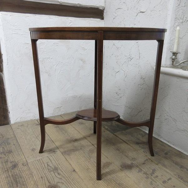 イギリス アンティーク 家具 オケージョナルテーブル サイドテーブル 飾り棚 花台 木製 英国 SMALLTABLE 6801b_画像5