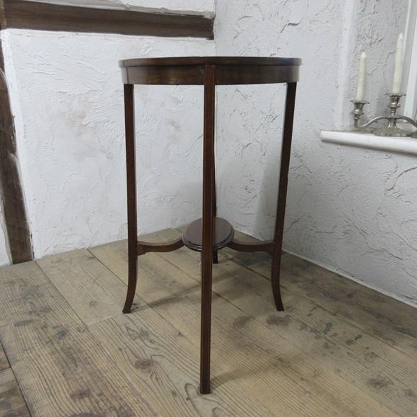イギリス アンティーク 家具 オケージョナルテーブル サイドテーブル 飾り棚 花台 木製 英国 SMALLTABLE 6801b_画像6