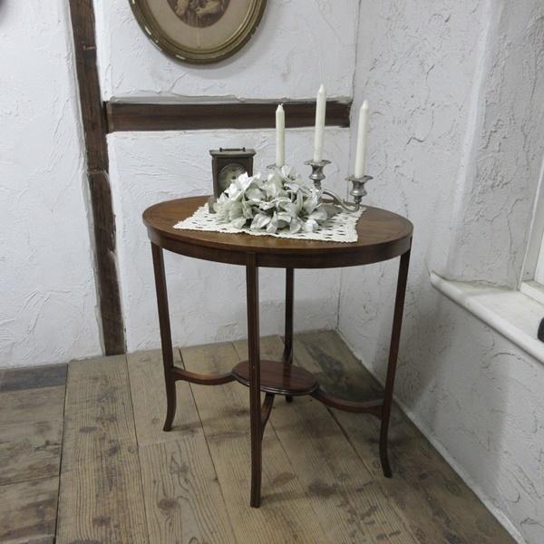 イギリス アンティーク 家具 オケージョナルテーブル サイドテーブル 飾り棚 花台 木製 英国 SMALLTABLE 6801b_画像1