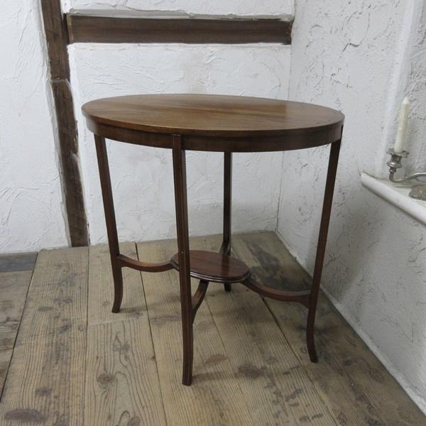 イギリス アンティーク 家具 オケージョナルテーブル サイドテーブル 飾り棚 花台 木製 英国 SMALLTABLE 6801b_画像2