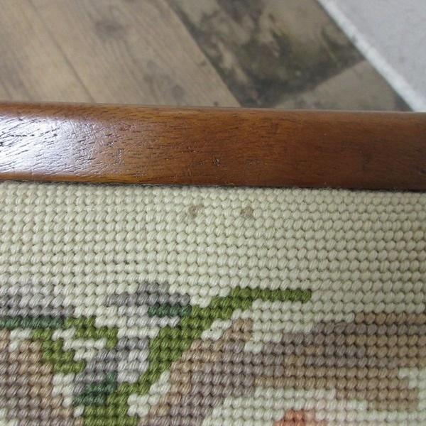 イギリス アンティーク 家具 スツール 椅子 チェア クロスステッチ 木製 英国 OTHERCHAIR 6807b_画像9